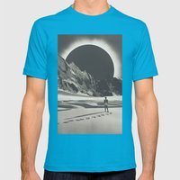 Interstellar Mens Fitted Tee Teal SMALL