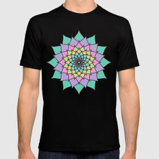 Pastel Lotus SMALL Black Mens Fitted Tee