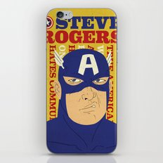 Steve Rogers/Captain America iPhone & iPod Skin