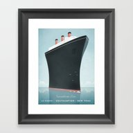 Vintage Travel Poster - … Framed Art Print
