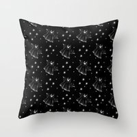 Starry Nights Scary Ghos… Throw Pillow