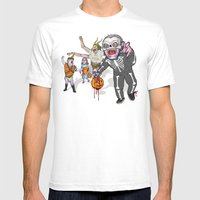 Trick Or Tremble Mens Fitted Tee White SMALL