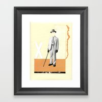 Sorrowing Man Framed Art Print
