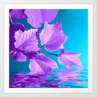 Purple Wine Leafs VI Art Print