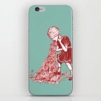 Floral Vomit iPhone & iPod Skin