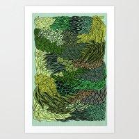 Leaf Cluster Art Print