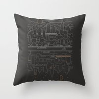 City 24 Throw Pillow