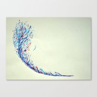 Feather Strike Canvas Print