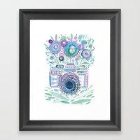 flower camera Framed Art Print