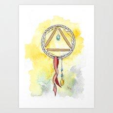 Gold Dreamcatcher Art Print