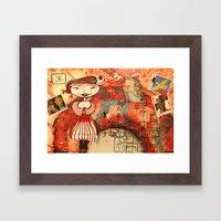little girl Framed Art Print