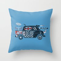 Vantastic Tank Girl Throw Pillow