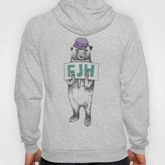 FJH-bear sign Hoody