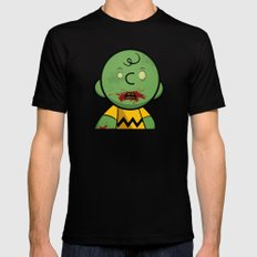 Zombie Charlie Brown Mens Fitted Tee Black SMALL