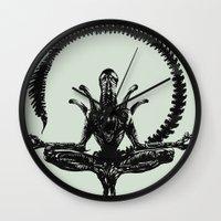 Meditation Alien Wall Clock