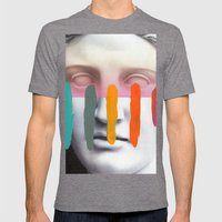 Composition On Panel 2 Mens Fitted Tee Tri-Grey SMALL