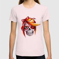 Diana De Los Muertos V2 Womens Fitted Tee Light Pink SMALL