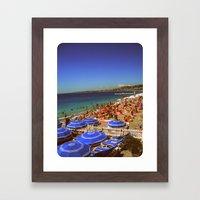 It's Nice In Nice Framed Art Print