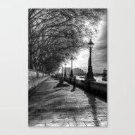 River Thames Path Canvas Print