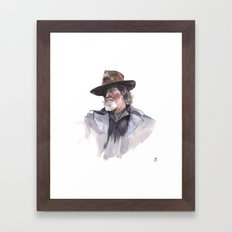 Jeff Bridges (Rooster Cogburn) Framed Art Print