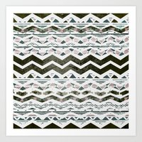 TRIBAL CHEVRON Art Print