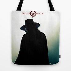V for Vendetta (e4) Tote Bag