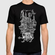 the wandering library SMALL Mens Fitted Tee Black