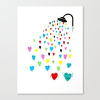 Love Shower Canvas Print