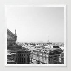 Paris in Grey Canvas Print
