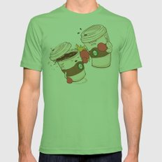 Strong Coffee Mens Fitted Tee Grass SMALL