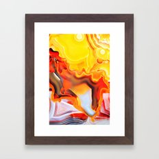 Earth's Fantasy, from the Lithosphere emerges Beauty - Agate Framed Art Print