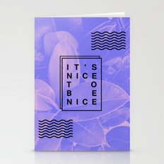 It's Nice To Be Nice Stationery Cards