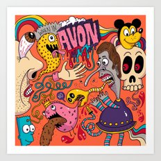 Avon Doodle Art Print
