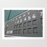 Fenwall -- Boston Fenway Park Wall, Green Monster, Red Sox Art Print