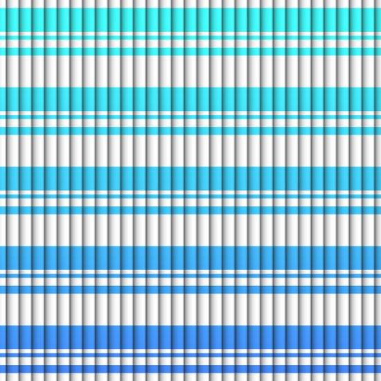 Stripes - Teal/Blue Art Print