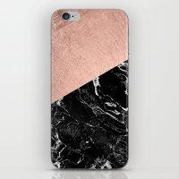 Bold Modern Rose Gold Bl… iPhone & iPod Skin