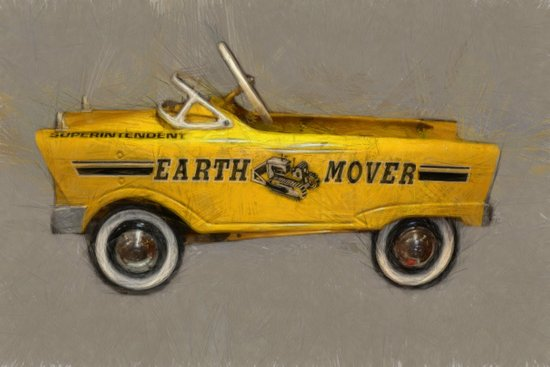 Earth Mover Pedal Car Canvas Print