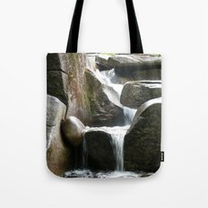Rocky water fall Tote Bag