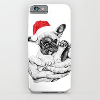 iPhone & iPod Case featuring Festive Frenchie by Libby Watkins Illustration