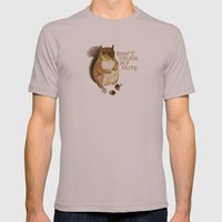 Irreverent Squirrel Mens Fitted Tee Cinder SMALL