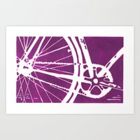Purple Bike Art Print