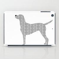 Vizsla Dog In Floral Des… iPad Case