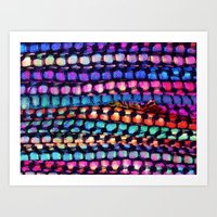 Colourful Layers  - JUST… Art Print