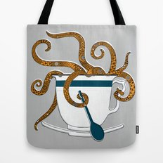 Octopus in a Teacup Tote Bag