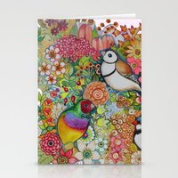 Exotic Birds Stationery Cards