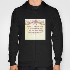 Shall I comare thee to a summer's day? --Sonnet 18 Shakespeare Quote Hoody