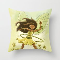 Goblins Drool, Fairies Rule - Hula Hoop  Throw Pillow