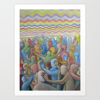 Altered Vibrations Art Print