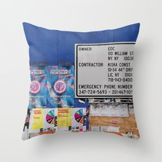 Street Collage I Throw Pillow