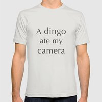 A Dingo Ate My Camera Mens Fitted Tee Silver SMALL